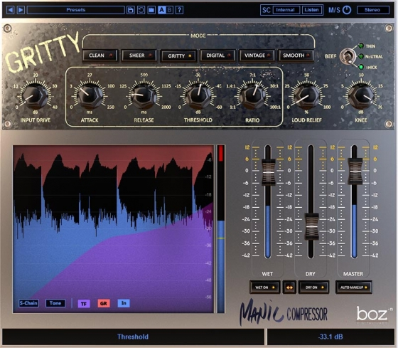 Boz Digital Labs Manic Compressor v1.0.2 WiN/MAC RETAiL